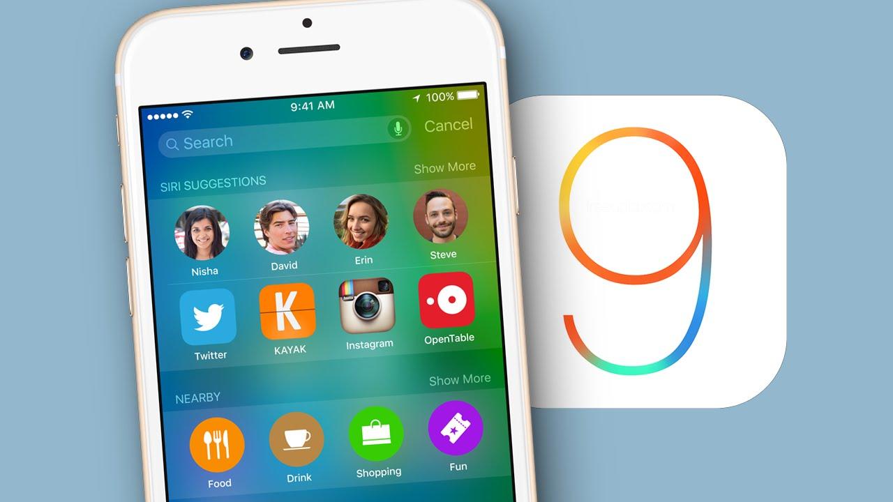 iOS 9 sur 70 % des appareils compatibles