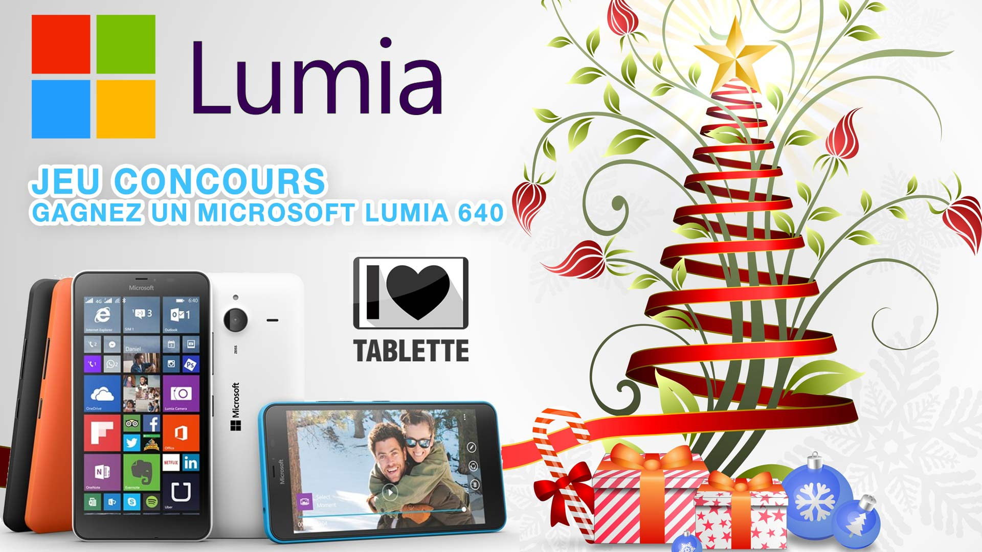 Découvrez notre liste de Noël #MicrosoftStore et gagnez un Lumia 640 en RT ce tweet @ilovetablette #Jeu #AventMicrosoft
