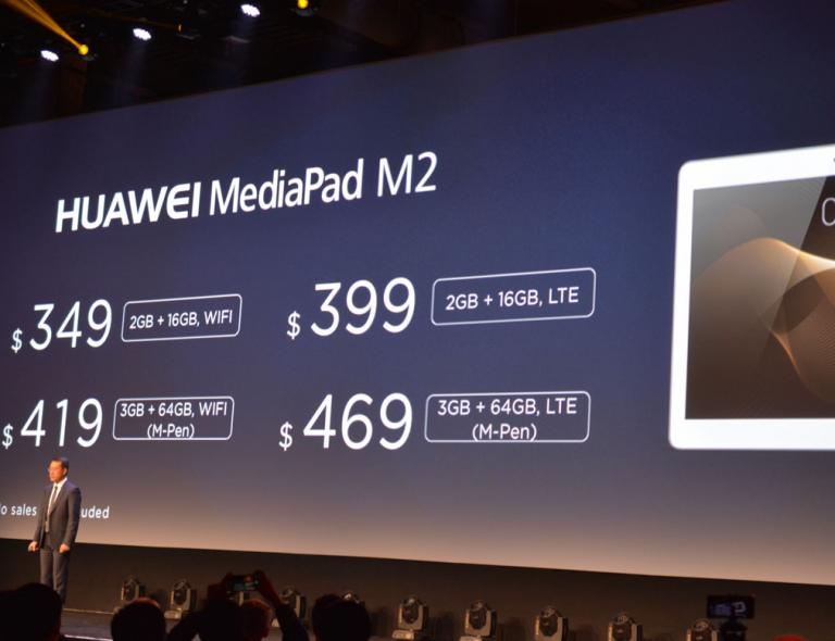 [CES 2016] Huawei présente le MediaPad M2 10″ et le Mate 8