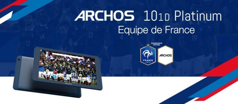 Archos recycle deux de ses tablettes en mode «Equipe de France»