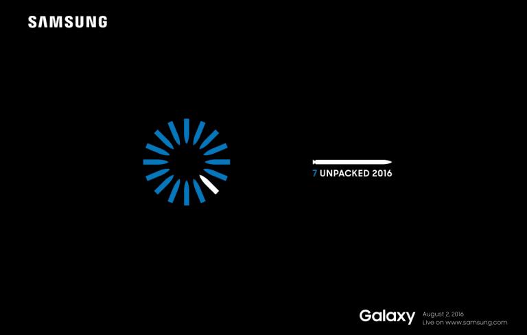 Le Samsung Galaxy Note 7 sera officialisé le 2 août
