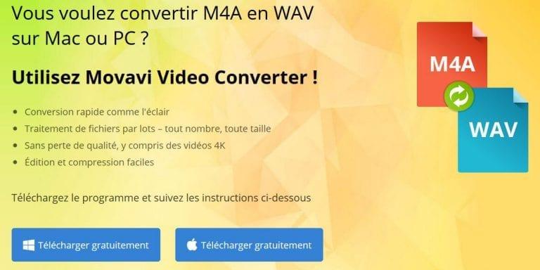 Comment convertir un fichier M4A en WAV ?